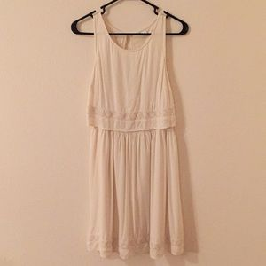 Dresses & Skirts - White Flower Detail Dress
